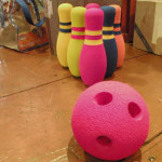 Bowling game at Village Toy Shoppe in New Hope