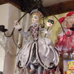 Peter Wolf's French Girl Chandelier at Village Toy Shoppe in New Hope