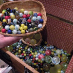 Glass marbles at Village Toy Shoppe in New Hope
