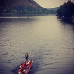 Dragon boating on the Delaware River in New Hope, PA
